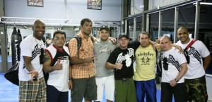 "Andre Glodzinski with Anderson ""Spider"" Silva + Antonio Rodrigo Nogueira ""Minotaur"""