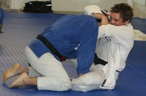 Black Belt Andre Glodzinski on the mat